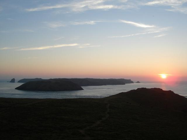 Sunset over Skomer